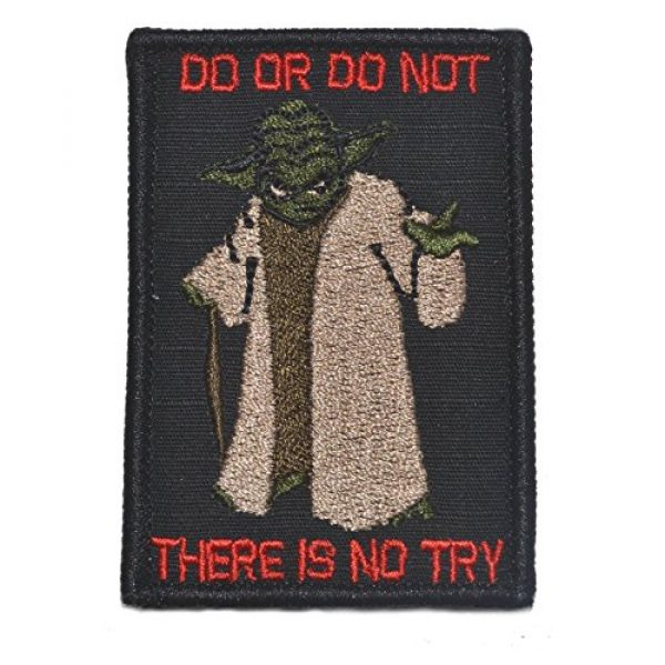 Tactical Gear Junkie Airsoft Morale Patch 1 Yoda DO OR DO NOT - 3X2 Patch - Black