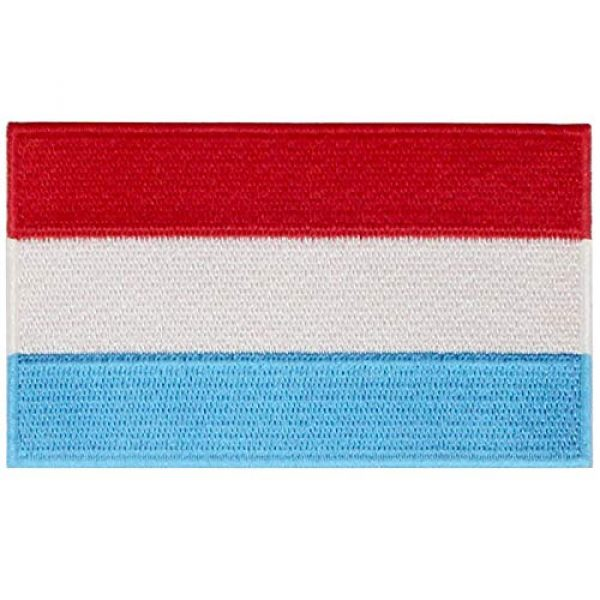 EmbTao Airsoft Morale Patch 1 EmbTao Luxembourg Flag Patch Embroidered National Morale Applique Iron On Sew On Luxembourgish Emblem