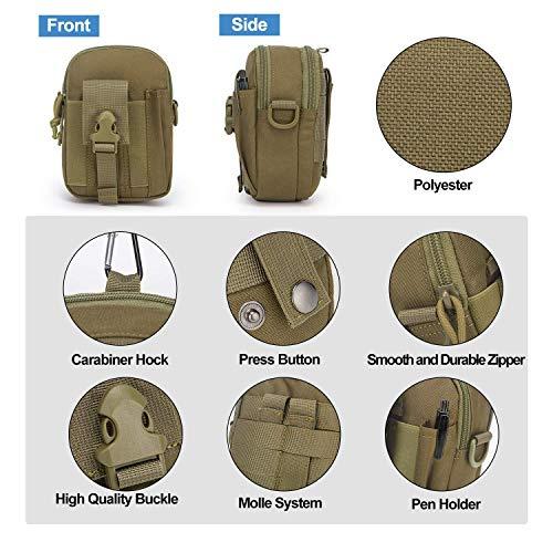 Mardingtop Tactical Backpack 4 Mardingtop Bundle Items: 25L Molle Hiking Tactical Backpack Khaki