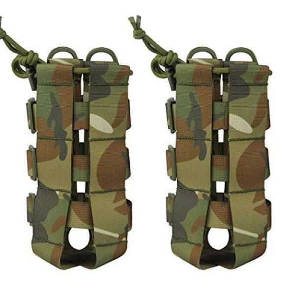 Aoutacc Tactical Pouch 1 2 Pack Molle Tactical Water Bottle Pouch Adjustable Straps Outdoor Sports Kettle Carrier Holder for Molle Systems