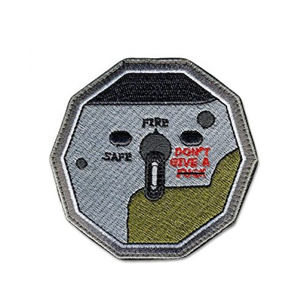 BASTION Airsoft Morale Patch 1 BASTION Morale Patches (Don't Give F Switch) | 3D Embroidered Patches with Hook & Loop Fastener Backing | Well-Made Clean Stitching | Military Patches Ideal for Tactical Bag, Hats & Vest
