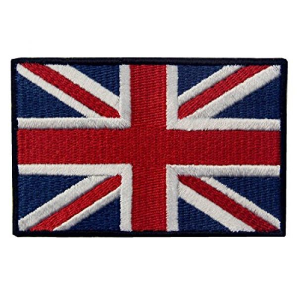 EmbTao Airsoft Morale Patch 1 EmbTao Patches British Union Jack Embroidered England Flag UK Great Britain Hook & Loop Emblem