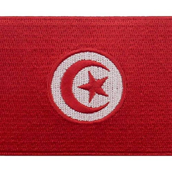 EmbTao Airsoft Morale Patch 2 EmbTao Tunisia Flag Patch Embroidered National Morale Applique Iron On Sew On Tunisian Emblem