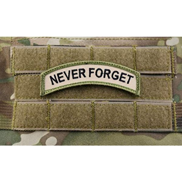 BritKitUSA Airsoft Morale Patch 1 BritKitUSA Never Forget Tab Patch Multicam US Army Morale Patch 9/11 NYC NYFD NYPD PAPNYNJ