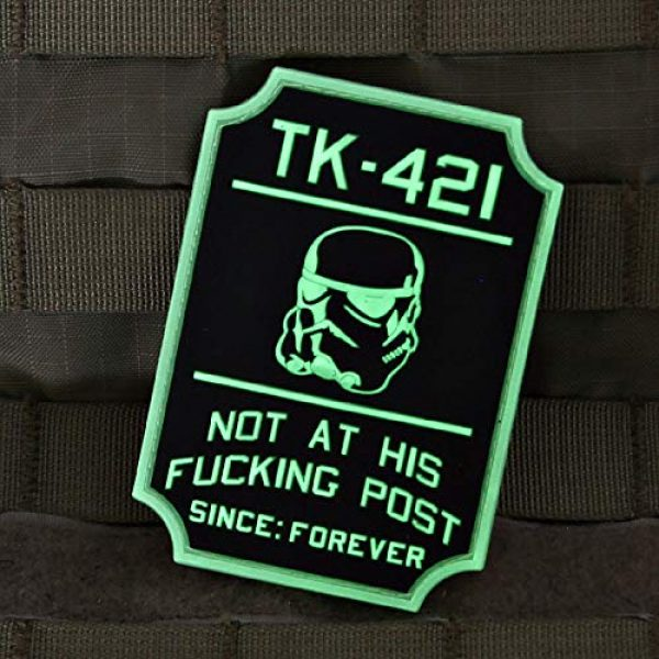 Violent Little Machine Shop Airsoft Morale Patch 3 TK-421 Glow-in-The-Dark Star Wars Morale Patch by Violent Little Machine Shop