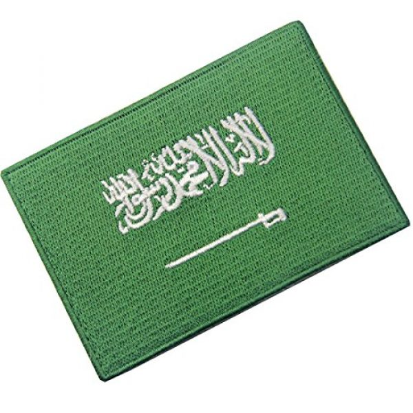 EmbTao Airsoft Morale Patch 3 Saudi Arabia Flag Embroidered Arabian Emblem Iron On Sew On Arab National Patch