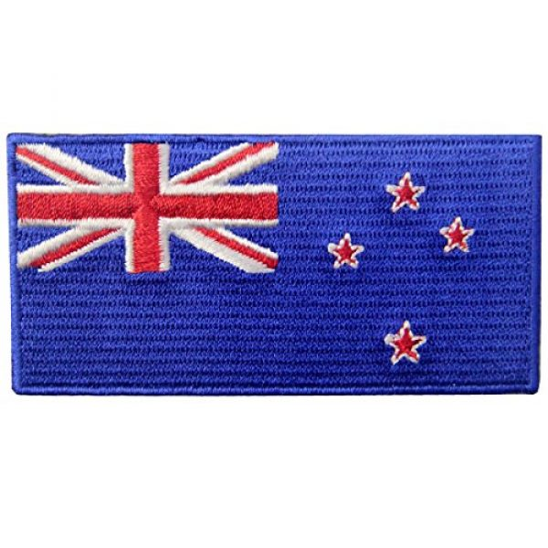EmbTao Airsoft Morale Patch 1 New Zealand Flag Embroidered Kiwi Emblem Iron On Sew On National Patch