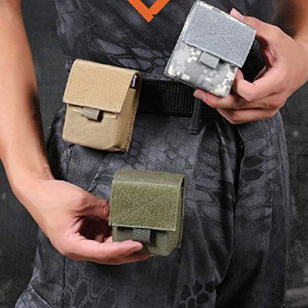 TRIWONDER Tactical Pouch 7 TRIWONDER Tactical Cigarette Pouch Molle Small Military Bag Battery Cigarette Case EDC Utility Card Holder Lighter Slot Mini Cigar Waist Pack