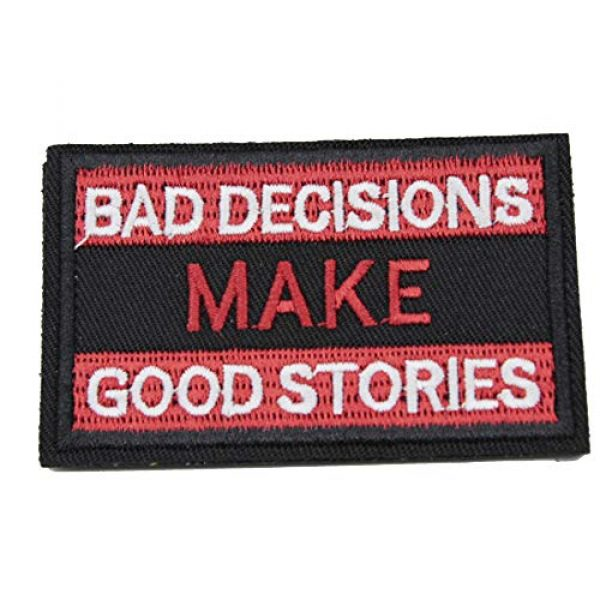 ZHDTW Airsoft Morale Patch 1 ZHDTW Tactical Morale Bad Decisions Make Good Stories Patches with Hook and Loop (DT-025)