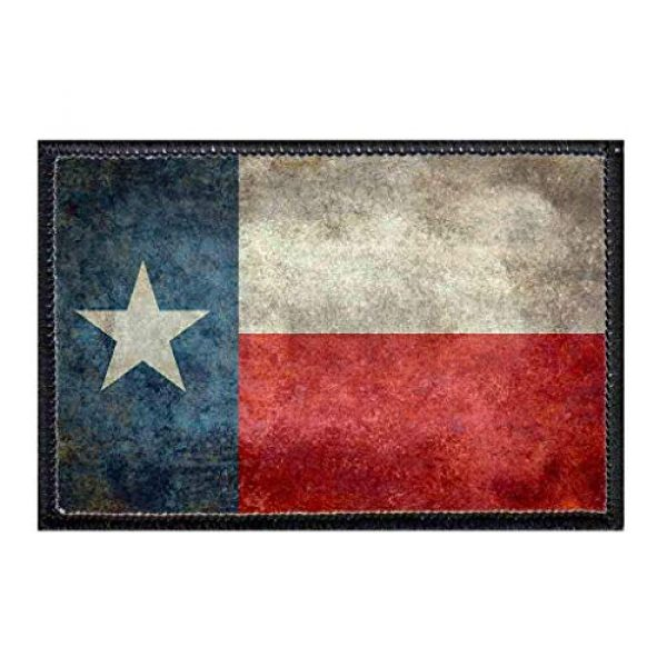 P PULLPATCH Airsoft Morale Patch 1 Texas State Flag - Distressed - Color Morale Patch | Hook and Loop Attach for Hats, Jeans, Vest, Coat | 2x3 in | by Pull Patch
