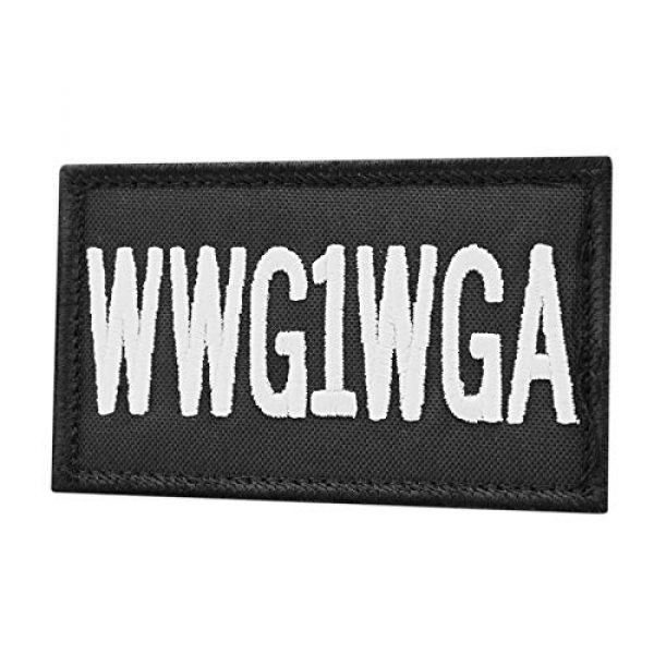LEGEEON Airsoft Morale Patch 1 LEGEEON WWG1WGA 2x3.25 Where We Go One All Morale Hook-and-Loop Cap Patch
