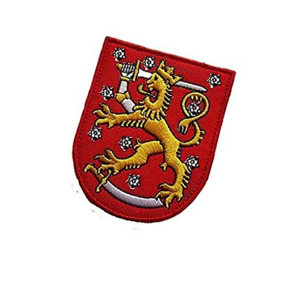 Embroidery Patch Airsoft Morale Patch 3 Finland Suomi Coat of Arms Military Hook Loop Tactics Morale Embroidered Patch