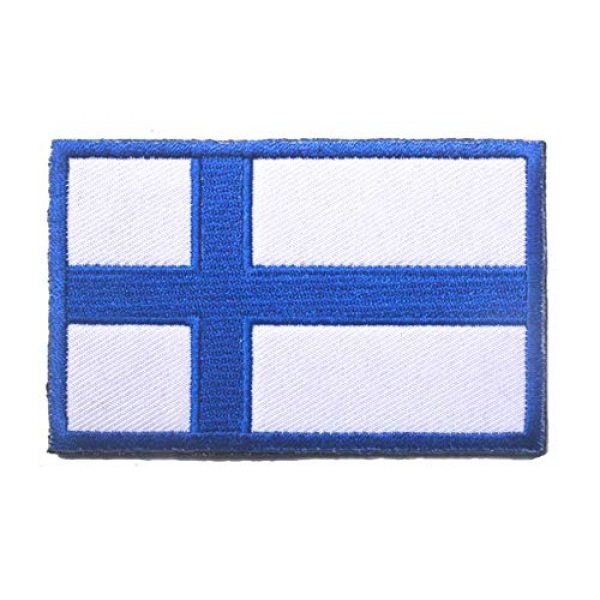 Tactical Embroidery Patch Airsoft Morale Patch 2 2pcs Finland Flag Embroidery Patch Military Tactical Morale Patch Badges Emblem Applique Hook Patches for Clothes Backpack Accessories
