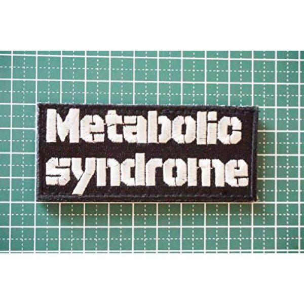 WAPPEN-YA DONGRI Airsoft Morale Patch 2 Verclo Embroidered Morale Patch Metabollic Syndrome A0429