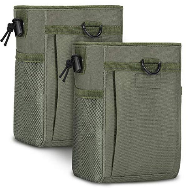 Boao Tactical Pouch 1 2 Pieces Molle Pouches Tactical Molle Dump Pouch Drawstring Magazine Dump Pouch Utility Waist Bag for Outdoor Supplies