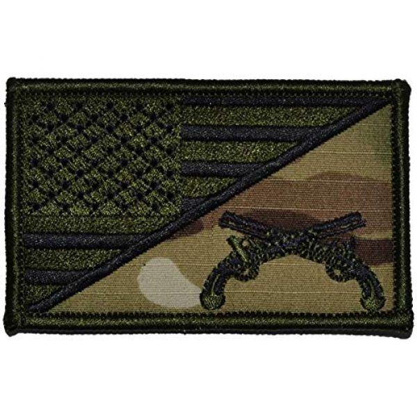 Tactical Gear Junkie Airsoft Morale Patch 1 MP USA Flag - 2.25x3.5 Patch - Multicam