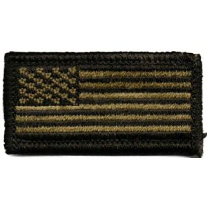Gadsden and Culpeper Airsoft Morale Patch 1 USA Mini Tactical Patch - Olive Drab
