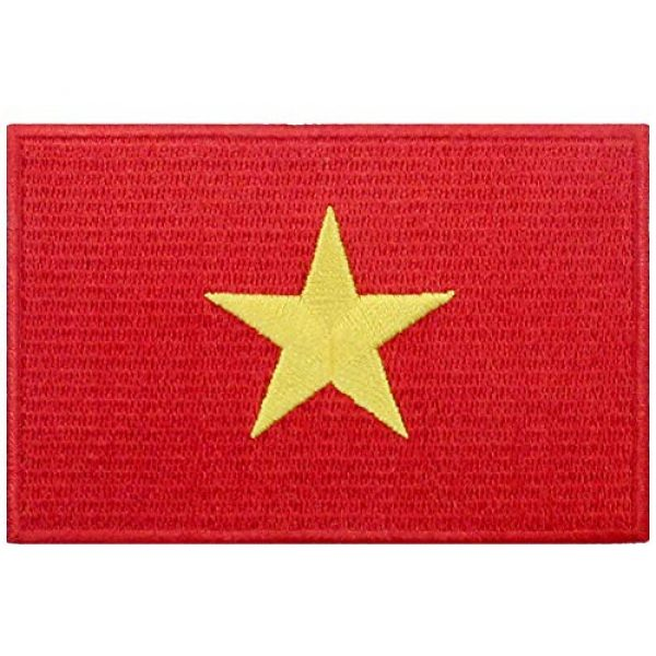 EmbTao Airsoft Morale Patch 1 EmbTao Vietnam Flag Patch Embroidered National Morale Applique Iron On Sew On Vietnamese Emblem