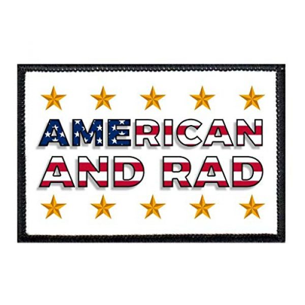 P PULLPATCH Airsoft Morale Patch 1 American and Rad Morale Patch | Hook and Loop Attach for Hats, Jeans, Vest, Coat | 2x3 in | by Pull Patch