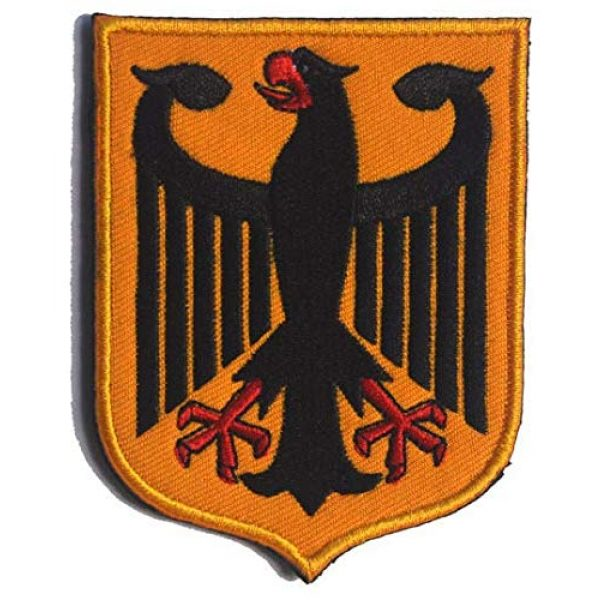 Embroidered Patch Airsoft Morale Patch 3 3pc Germany Coat of Arms Patch German Eagle Shield 3D Tactical Patch Military Embroidered Morale Tags Badge Embroidered Patch DIY Applique Shoulder Patch Embroidery Gift Patch