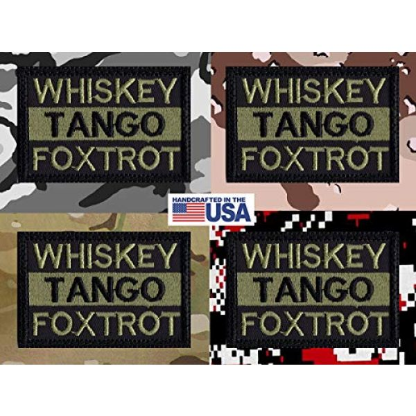 Tactical Patch Works Airsoft Morale Patch 4 WTF Whiskey Tango Foxtrot Patch