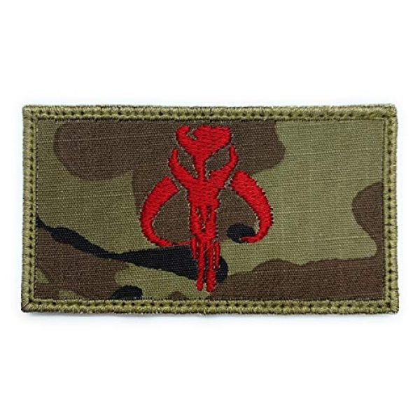 Almost SGT Airsoft Morale Patch 1 Boba Fett Symbol Logo Patch Star Wars Bounty Hunter - Funny Tactical Military Morale Embroidered Patch Hook Backing(Camouflage)