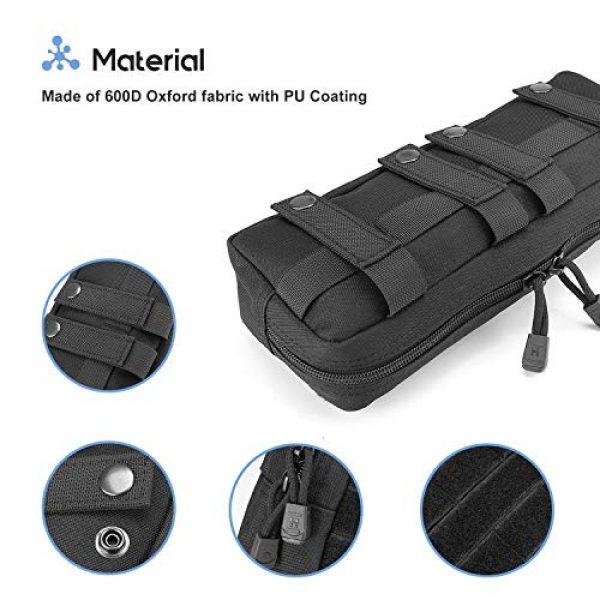 ProCase Tactical Pouch 4 ProCase Tactical Admin Pouch Versatile Molle Admin Pouch EDC Carry Bag Multi-Purpose Tool Holder Bundle with Compact EDC Military Admin Utility Gadget Waist Bag