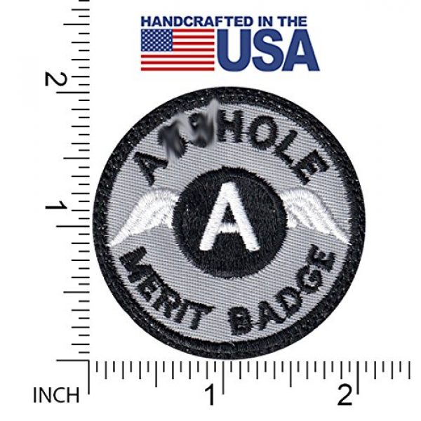 Tactical Patch Works Airsoft Morale Patch 2 A-hole Merit Badge Patch