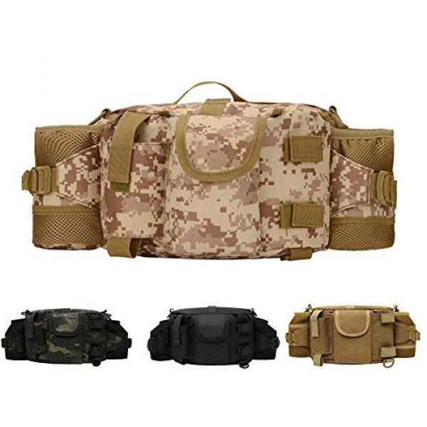 ANTARCTICA Tactical Pouch 1 ANTARCTICA 1050D Military Tactical Waist Pack Bag Fanny Pack Sling Bag Range Bag EDC Camera Bag with Shoulder Strap for Outdoor,Sports,Jogging,Walking,Hiking,Cycling