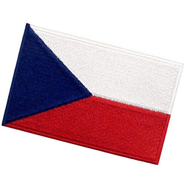 EmbTao Airsoft Morale Patch 4 EmbTao Czech Republic Flag Patch Embroidered Morale Applique Iron On Sew On National Emblem