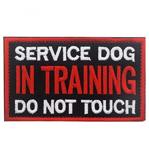 Ehope Airsoft Morale Patch 1 Patch Service Dog in Training Do Not Touch Vests/Harnesses Emblem Embroidered Fastener Hook & Loop Patch(Service Dog in Training-5)