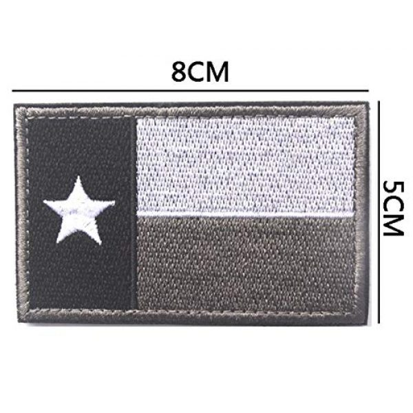 June Sports Airsoft Morale Patch 2 Texas State Flag Embroidered Patch Sew-On TX Lone Star Emblem ABG77