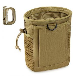 LIVANS Tactical Pouch 1 LIVANS Tactical Molle Dump Pouch, Magazine Recovery Pouch Drastring Ammo Bag Belt Utility Fanny Adjustable Military Holster Bag Outdoor for Airsoft Paintball Hunting Gear