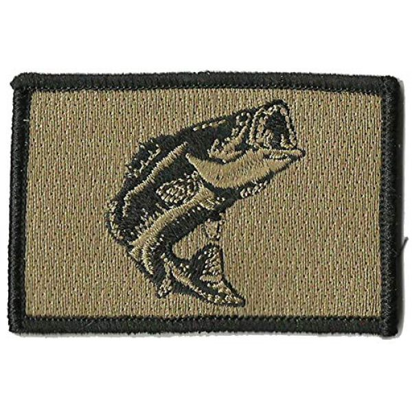 Gadsden and Culpeper Airsoft Morale Patch 1 Tactical Wildlife Largemouth Bass Patch