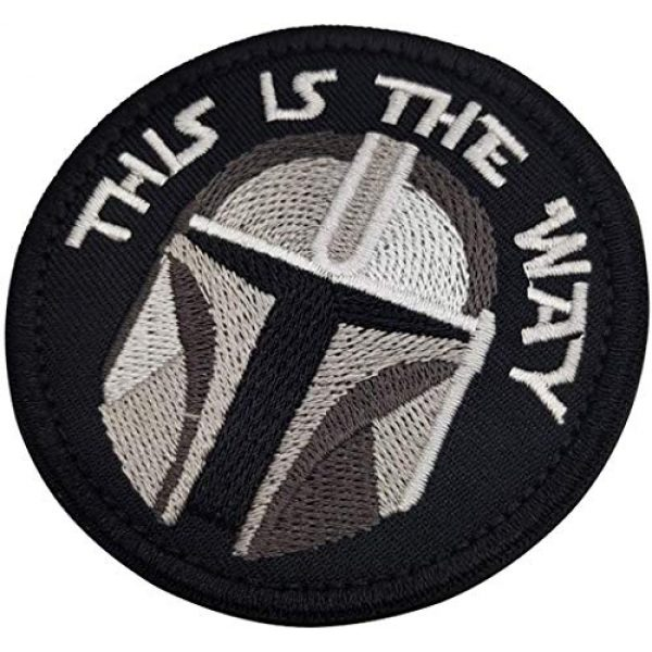 APBVIHL Airsoft Morale Patch 7 This is The Way Mandalorian Morale Patch, Fastener Hook and Loop Backing Tactical Military Embroidered Fabric Patches for Clothes Hat Backpack, 3.15 Inch, Bundle 2 Pieces