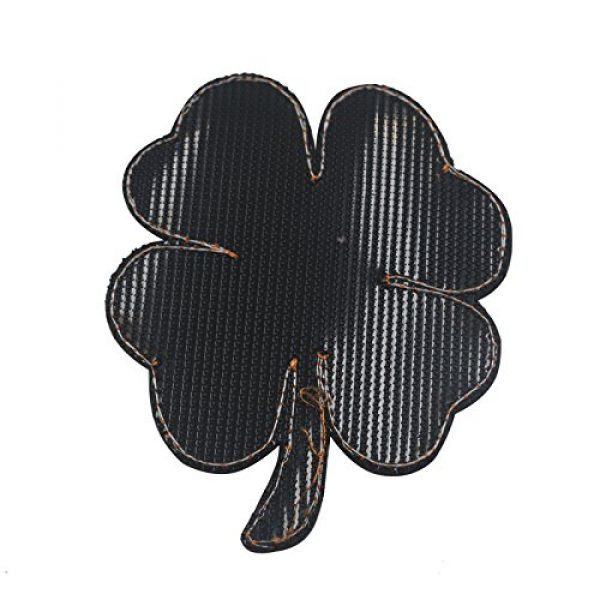 Zhikang68 Airsoft Morale Patch 4 Irish Clover Shamrock Skull Head Biker Tactical Morale Badge Emblem Embroidered Sew On Applique Patch (Green Skull)