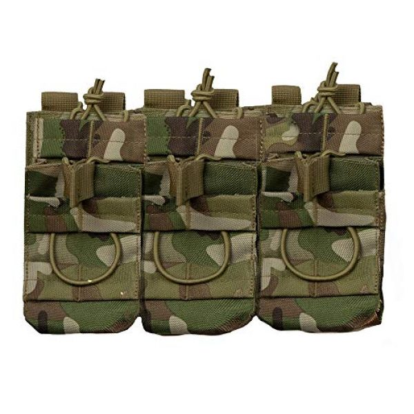 Acme Approved Tactical Pouch 1 Acme Approved Tactical Triple Stacker M4 -M16 Mag Pouch Multi-cam Best Fit for Military,Soldiers,Police Shooting Gear.