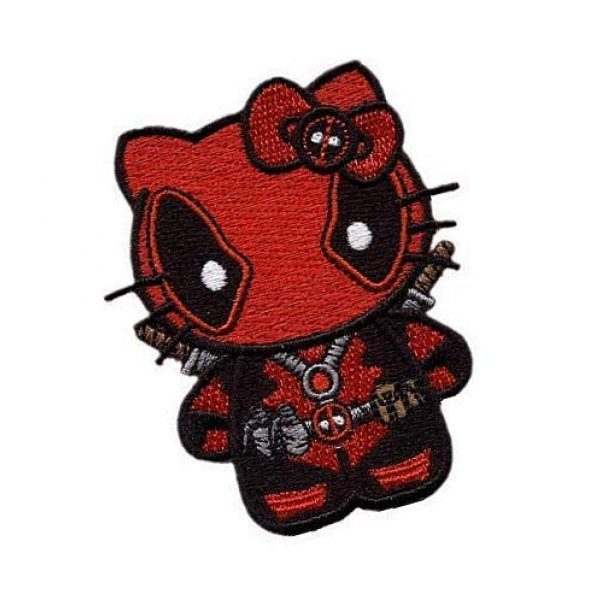 Embroidery Patch Airsoft Morale Patch 2 Hello Kitty Patch Military Hook Loop Tactics Morale Embroidered Patch