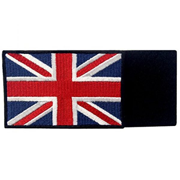 EmbTao Airsoft Morale Patch 5 EmbTao Patches British Union Jack Embroidered England Flag UK Great Britain Hook & Loop Emblem