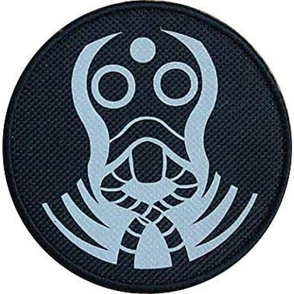 """Embroidery Patch Airsoft Morale Patch 1 SCP Foundation Special Containment Procedures Foundation SCP Mobile Task Forces Zeta-9 Mole Rats"""" Military Hook Loop Tactics Morale Reflective Patch"""