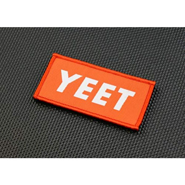 BritKitUSA Airsoft Morale Patch 1 BritKitUSA YEET Woven Morale Patch Supreme Parody Hook and Loop Backing
