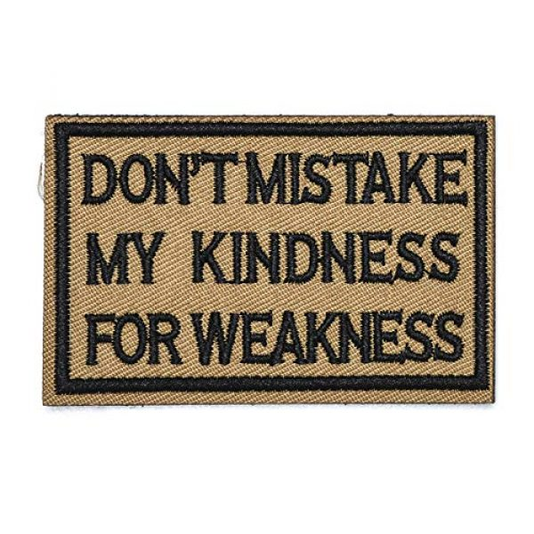 ZHDTW Airsoft Morale Patch 1 ZHDTW Tactical Morale Letter Patches Don't Mistake My Kindness for Weakness Decorative Patches with Hook Loop for Bags, Backpacks, Clothing (DT050)