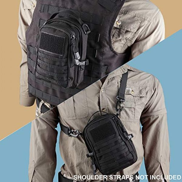 AMYIPO Tactical Pouch 7 AMYIPO Mini MOLLE Pouch Multi-Purpose Compact Tactical Small Waist Bags Utility Pouch Storage Pocket