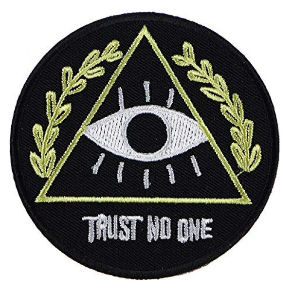 """JPT Airsoft Morale Patch 4 Ê""""Ìá´""""ÌÊ 4 Patches - I Want to Believe, Trust NO ONE, I Want to Leave Iron Sew on Patches"""