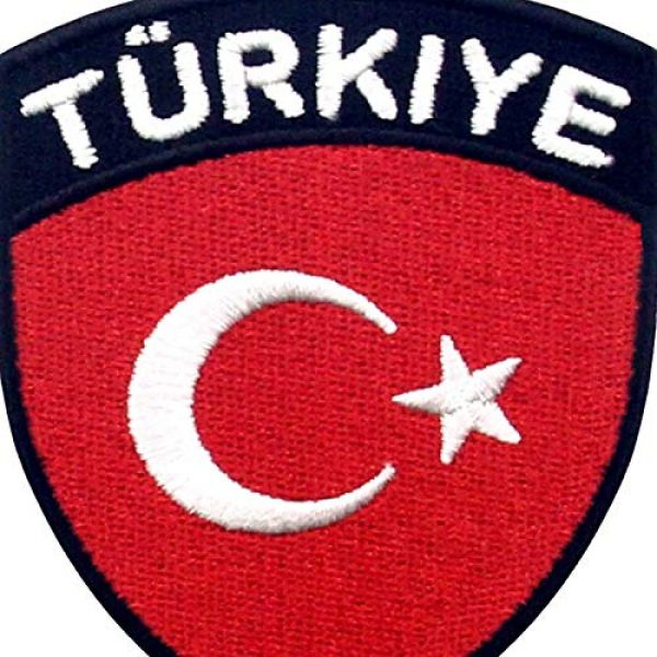 EmbTao Airsoft Morale Patch 2 EmbTao Turkey Flag Shield Patch Embroidered National Morale Applique Iron On Sew On Turk Emblem