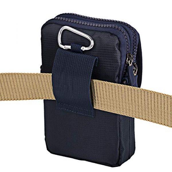 IronSeals Tactical Pouch 4 IronSeals AQ Tactical Waterproof Shoulder Tape Molle EDC Belt Waist Pouch Bag Zipper Tough D-Ring Hook & Loop Three Interlayer Wallet for Phone