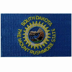EmbTao Airsoft Morale Patch 1 South Dakota State Flag Embroidered Emblem Iron On Sew On SD Patch