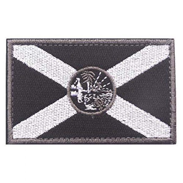 JoJoHouse Airsoft Morale Patch 1 States Flag Patches of the U.S Country Embroidery Morale Velcro Patch JHZ55