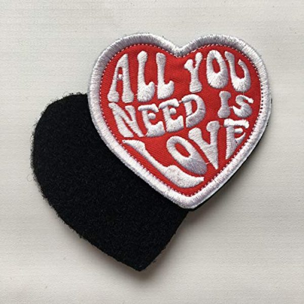 Xunqian Airsoft Morale Patch 4 All You Need is Love Military Heart Funny Embroidered Morale Hook & Loop Patch (B-Love Heart)