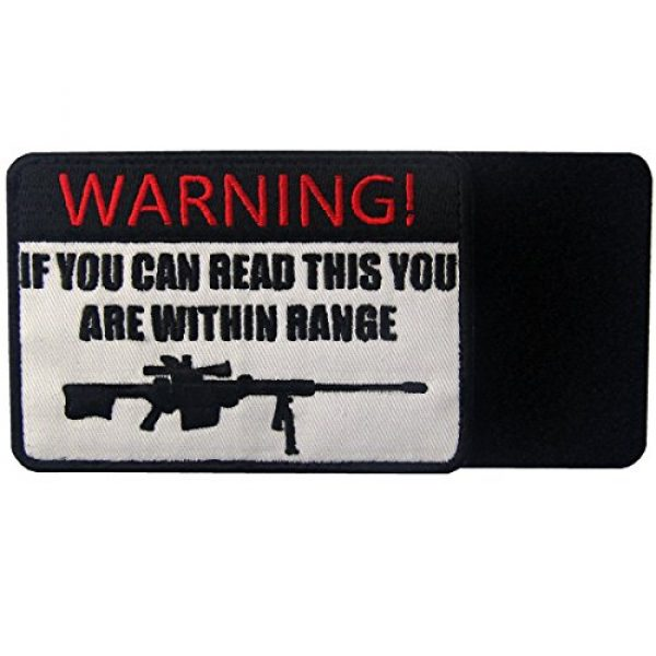 EmbTao Airsoft Morale Patch 5 If You Can Read This You are Within Range Tactical Military Morale Applique Fastener Hook & Loop Patch